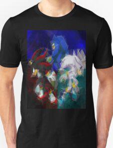 Sonic, Shadow, Silver T-Shirt