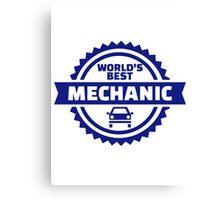 World's best mechanic Canvas Print