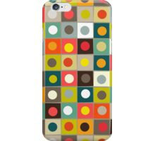 retro boxed dots iPhone Case/Skin