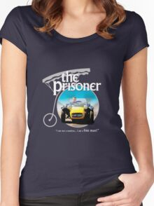 the prisoner  (i'm not a number i am a free man) Women's Fitted Scoop T-Shirt