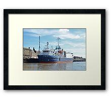 Research & Survey Ship Atlantic Wind Framed Print