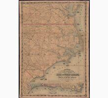 Vintage Map of Eastern North Carolina (1862) 2 Unisex T-Shirt