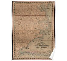 Vintage Map of Eastern North Carolina (1862) 2 Poster