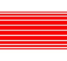 Horizontal White - Red Lines Photographic Print