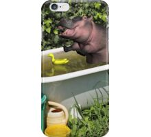 Cooling Off In A Bathtub iPhone Case/Skin