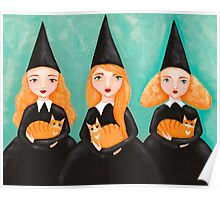 Ginger Witches & Ginger Cats Poster