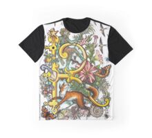 The Illustrated Alphabet Capital R (Fuller Bodied) from THE ILLUSTRATED MAN Graphic T-Shirt