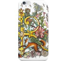The Illustrated Alphabet Capital R (Fuller Bodied) from THE ILLUSTRATED MAN iPhone Case/Skin