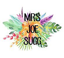 Mrs Joe Sugg – Floral, YouTube Photographic Print