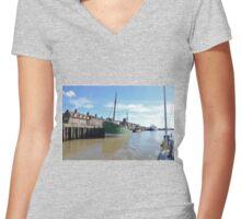 Steam Drifter Lydia Eva Women's Fitted V-Neck T-Shirt