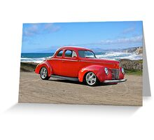1940 Ford 'Red' Coupe Greeting Card