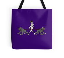Gozer Walks Her Terror Dogs Tote Bag
