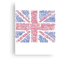 British Flag Collage Canvas Print
