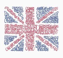British Flag Collage Kids Tee