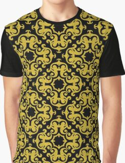 Retro Gold Ornaments Pattern Graphic T-Shirt