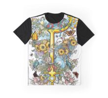 The Illustrated Alphabet Capital T (Fuller Bodied) from THE ILLUSTRATED MAN Graphic T-Shirt
