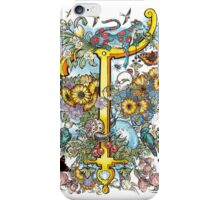 The Illustrated Alphabet Capital T (Fuller Bodied) from THE ILLUSTRATED MAN iPhone Case/Skin