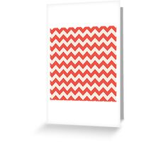 Beautiful Chevron pattern red hot retro Greeting Card