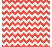 Beautiful Chevron pattern red hot retro Photographic Print