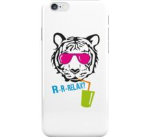 Face of a tiger relax iPhone Case/Skin