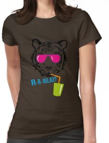 Face of a tiger relax Womens Fitted T-Shirt