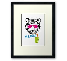 Face of a tiger relax Framed Print