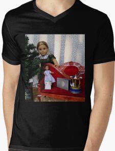 Christmas Scene Mens V-Neck T-Shirt