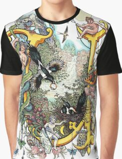 The Illustrated Alphabet Capital U (Fuller Bodied) Graphic T-Shirt