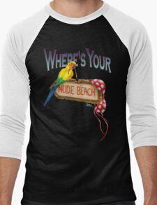 Where's Your Nude Beach Men's Baseball ¾ T-Shirt