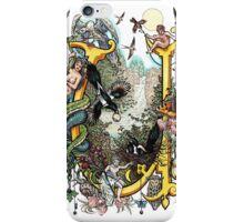 The Illustrated Alphabet Capital U (Fuller Bodied) from THE ILLUSTRATED MAN iPhone Case/Skin