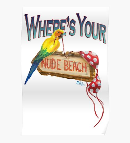 Where's Your Nude Beach Poster