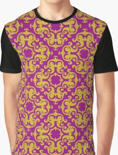 Classic Gold Ornaments Pattern Graphic T-Shirt
