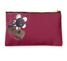 Funky Button Flower Studio Pouch
