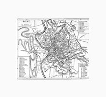 Vintage Map of Rome Italy (1911) Unisex T-Shirt