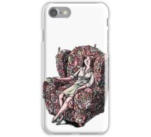 Woman Sitting in Chair Made of Her Friends iPhone Case/Skin