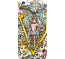 The Illustrated Alphabet Capital V (Fuller Bodied) from THE ILLUSTRATED MAN iPhone Case/Skin