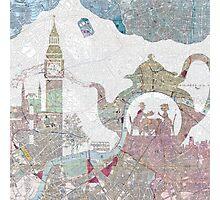 4 o'clock tea London Map Photographic Print