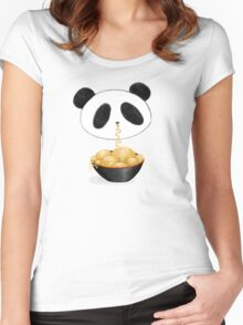 Ramen and Ninja Panda Women's Fitted Scoop T-Shirt