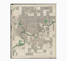Vintage Map of Edmonton Canada (1912) Unisex T-Shirt