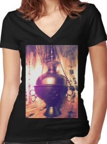 Spiritual Smoke Women's Fitted V-Neck T-Shirt