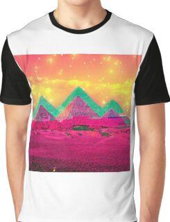Trippy Pyramids Graphic T-Shirt
