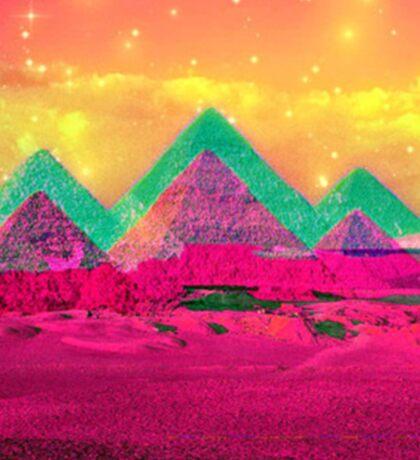 Trippy Pyramids Sticker