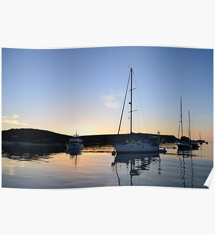 Tranquil Anchorage Poster