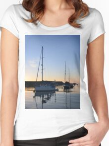 Tranquil Anchorage Women's Fitted Scoop T-Shirt