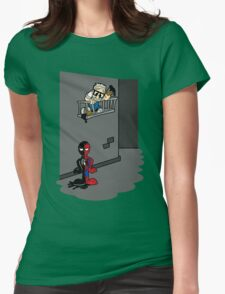Spider Paint Womens Fitted T-Shirt