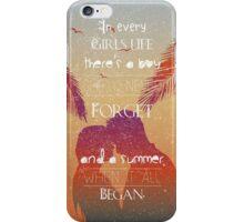 Tropical Beach Theme summer love iPhone Case/Skin
