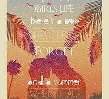 Tropical Beach Theme summer love by vinainna