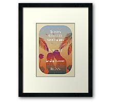 Tropical Beach Theme summer love Framed Print