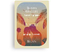 Tropical Beach Theme summer love Canvas Print