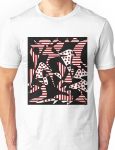 Red, black and white abstraction Unisex T-Shirt